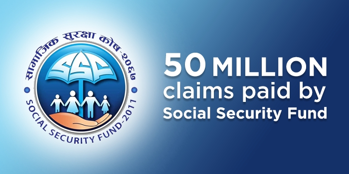 50 million claims paid by Social Security Fund