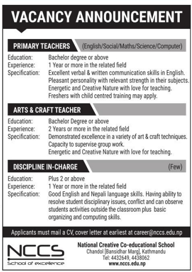 Primary Level Teacher (Computer)